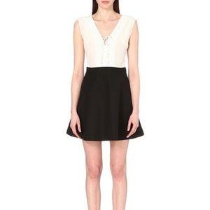 Sandro Rupa Ecru Lace Up Dress Size 3